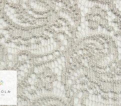 Lace openwork shells in gray 140 cm