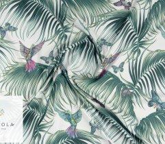 Silki kolibry i liście palmy