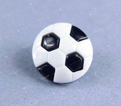 Guzik dziecięcy piłka biało-czarna
