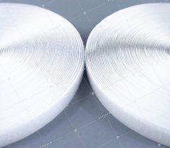 Rzep - haczyk i pętelka - biały - 20 mm