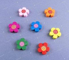 Drewniana dekoracja - kwiatek