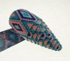 Guma dziana 50 mm pastelowe wzory