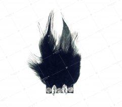 Broszka pióra czarne (3008)
