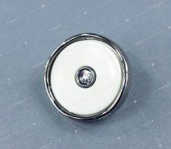 Guzik biały/antracyt z oczkiem (2934)