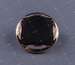 Guzik czarno-złoty (3035)