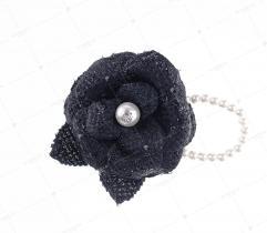 Broszka róża z perłami  (3028)