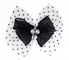 Brooch bow with pearls (3033)