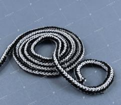 Sznurek bawełniany - biało/czarny (3086)