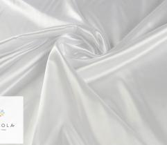 Tkanina dekoracyjna atłasowa biała