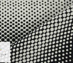 Żakard - białe kropki na czarnym