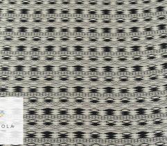 Żakard - geometryczne czarno-białe wzory