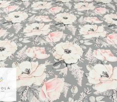 Barbie marchiano pudrowe kwiaty na szarym tle