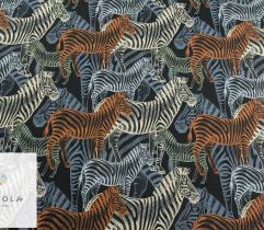 Silki kolorowe zebry na czarnym
