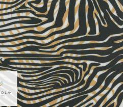 Silki czarno-złote pasy zebry