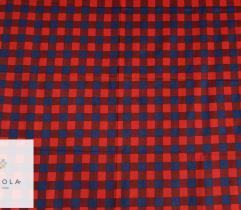 Flanela czerwono - granatowa krata