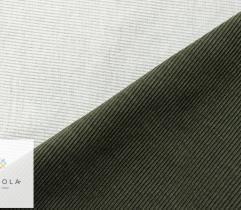 Ściągacz bawełniany khaki z białym spodem szer. 90 cm