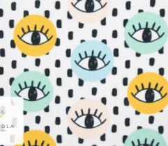 Tkanina poliestrowa - oczy