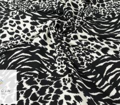 Punto ottoman czarno-biała panterka