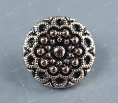 Ozdobny guzik - złote perełki (3350)