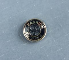 Button black-gold