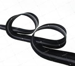 Taśma czarna, szary i czarny pasek (3357)