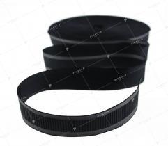 Taśma czarna, szara jodełka (3358)