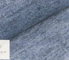 Woven coat Boucle - plain cyan melange