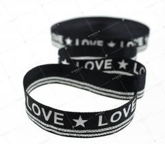 Taśma czarna 'LOVE' (3368)