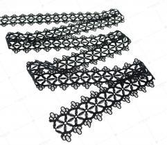 Lace black flower 4cm (3356)