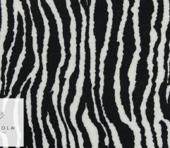 Punto biało-czarne drobne pręgi zebra