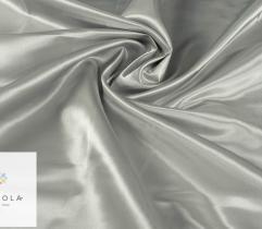 Tkanina dekoracyjna atłasowa - srebrna ciemna