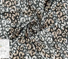 Silki szaro-biało-beżowa panterka