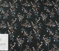 Silki kwiaty i kłosy na czarnym tle