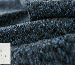 Woven coat Boucle - blue melange