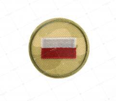 Naprasowanka Flaga Polski na tle moro