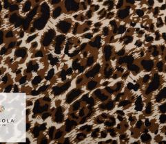 Viskosestoff  Leopardenmuster Braun