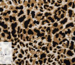 Tkanina wiskoza panterka gęsta jasny brąz