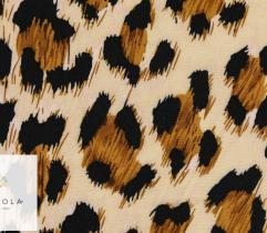 Tkanina wiskoza panterka żółty/jasny brąz