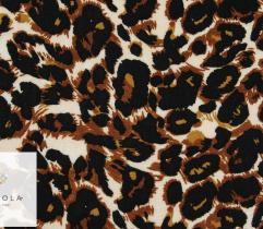 Tkanina wiskoza panterka gęsta ciemny brąz