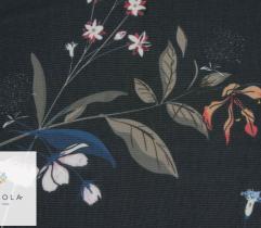 Szyfon kwiaty i kłosy na czarnym