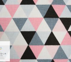 Tkanina pościelowa - piramidki różowe
