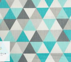 Woven bedding - turquoise triangles
