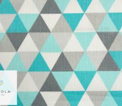 Tkanina pościelowa - piramidki turkusowe