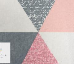 Tkanina pościelowa - trójkąty różowe
