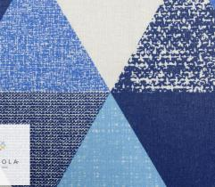 Tkanina pościelowa - trójkąty niebieskie