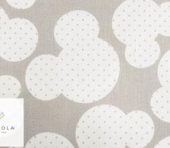Tkanina pościelowa - myszka Mickey na szarym