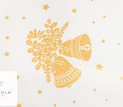 Tkanina bawełniana - złote dzwonki