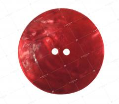 Guzik nr 1: czerwony z masy perłowej 32mm (3486)