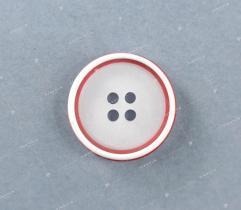 Guzik nr 14f: biało-czerwony 20mm (3509)