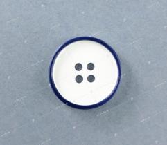 Guzik nr 16: biało-granatowy 20mm (3512)